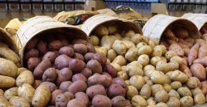 étalage de pommes de terre
